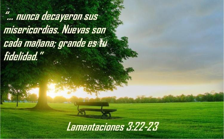 Lamentaciones 3.22-23