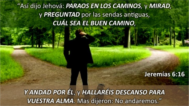 Jeremías 6.16