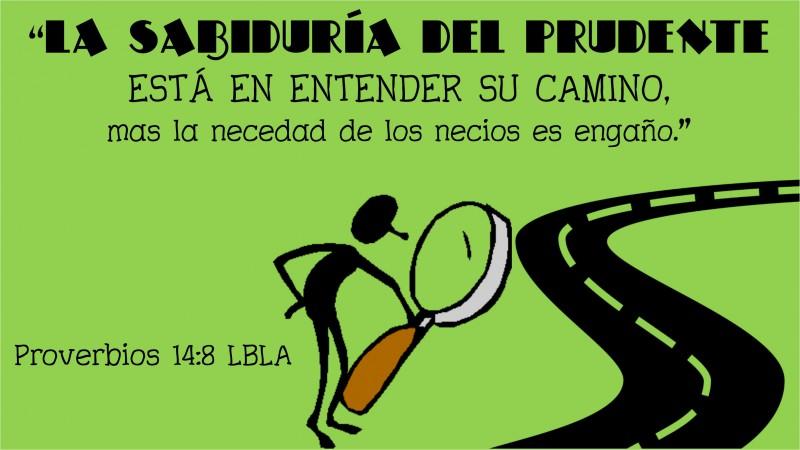Proverbios 14.8