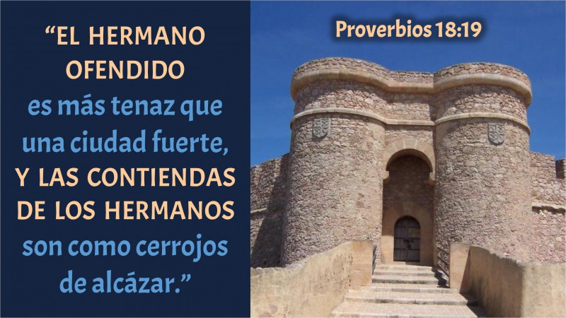 Proverbios 18.19
