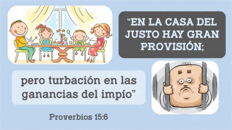 Proverbios 15.6