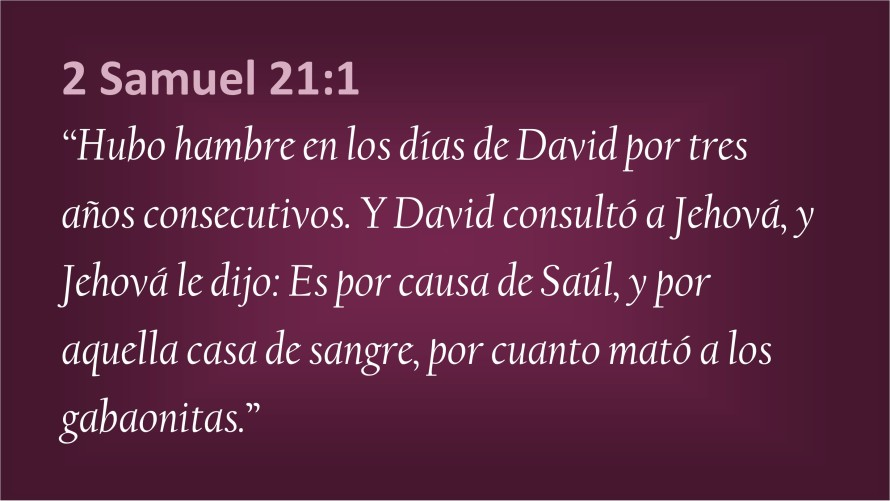 2 Samule 21.1
