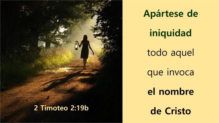 2 Timoteo 2.19b
