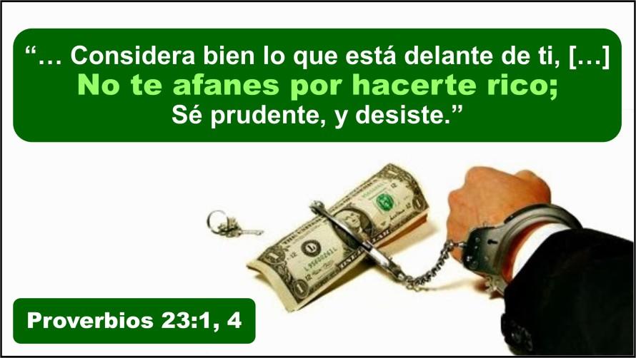 Proverbios 23.1 y 4