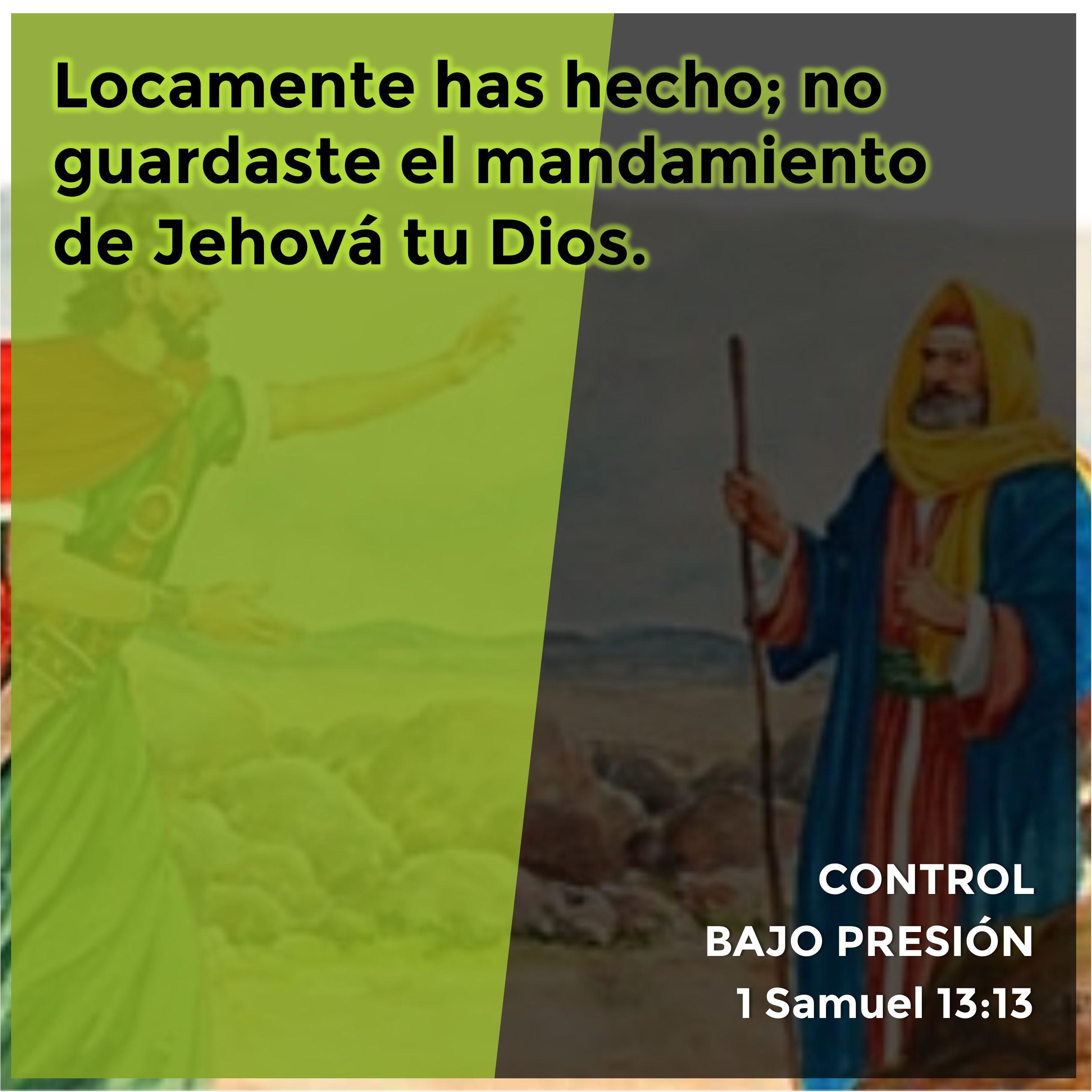 1 Samuel 13.13 Anexo